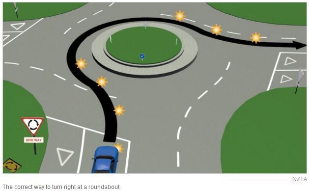 进入环岛怎么打转向灯?调查显示一半司机弄错了