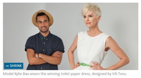 """近日,备受关注的""""卫生纸服装设计大赛""""(kleenex cottonelle paper"""