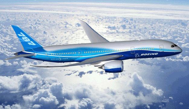 天维网 11月12日 报道,今天上午09点45分,奥克兰机场首次迎来波音787测试机,新西兰航空将从一架直升机上直播飞机到达的过程(点击观看)。  波音787  波音787亦称梦想飞机(英语:Dreamliner),是波音公司   天维网 11月12日 报道,今天上午09点45分,奥克兰机场首次迎来波音787测试机,新西兰航空从一架直升机上直播飞机到达的过程(点击观看)。下面就让我们共同揭开波音787的神秘面纱。   波音787   波音787亦称梦想飞机(英语:Dreamliner),是波音公司最新