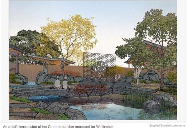 以上是惠灵顿中国花园的设计概念图,以下是但尼丁中国兰园的实景