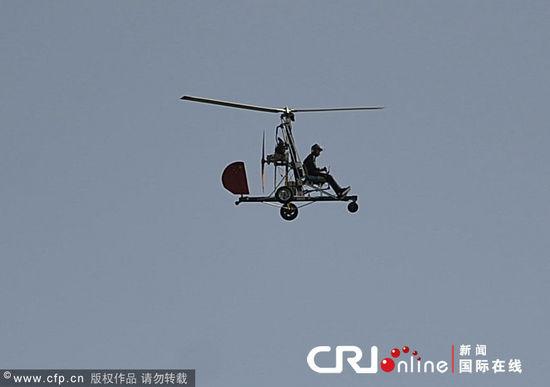 河北小伙自制旋翼式飞机 油耗与普通轿车相仿(组图)