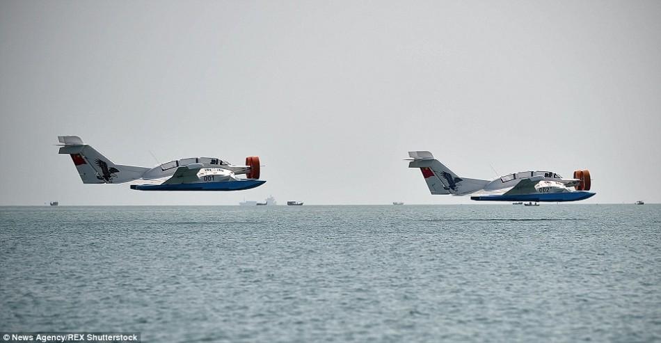 """中国新型海上飞机:空气组成""""气垫""""上滑翔(图)"""