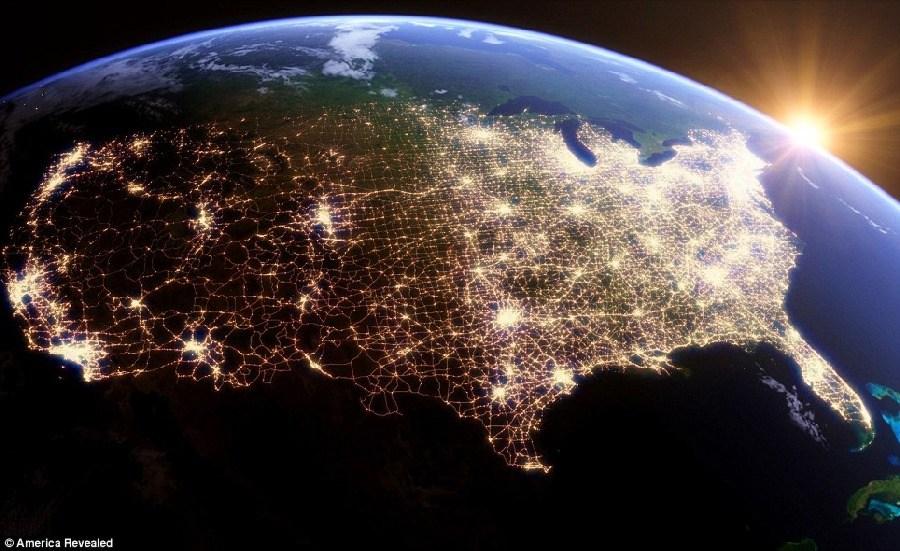 GPS的艺术:从太空的角度呈现美国的基础设施