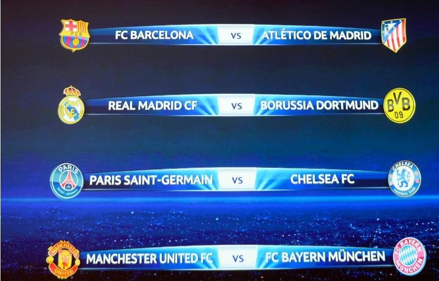 皇马 VS 多特蒙德   上赛季半决赛对阵的重演,但双方的战斗力对比已有所改变。安切洛蒂取代穆里尼奥之后经历了一个小小震荡期,但近期已渐入佳境,2月份至今西甲5胜1平打进了16球,国王杯两回合双杀马竞(总分5比0),欧冠上也刚横扫来自德甲的沙尔克04(总分9比2)。在人员上,和上赛季比虽然走了厄齐尔,但来了贝尔,安帅磨合出的新三叉戟威力十足(贝尔+C罗+本泽马),还有伊斯科这样的后备杀招。   多特蒙德在上赛季的巅峰后,今年有明显的下滑迹象,格策的离队影响不小,罗伊斯受到伤病困扰,中场本德受伤几乎告别