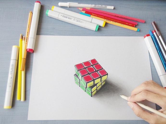 技术流!超牛画家打造3d手绘图