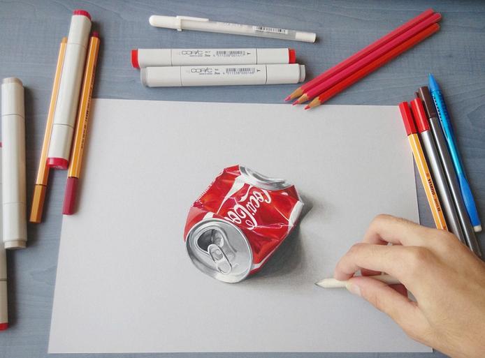 技术流!超牛画家打造3d手绘图 真假难辨(组图)