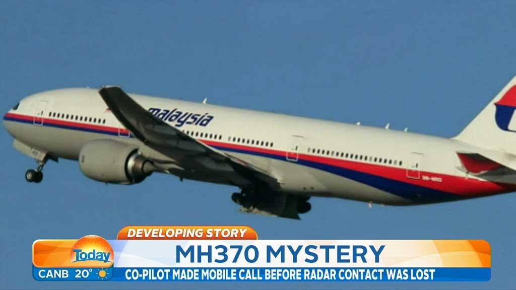 该飞机航班号为mh370,原定由吉隆坡飞往北京