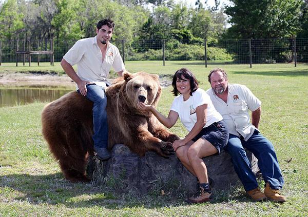 美国驯熊世家养13头熊当宠物